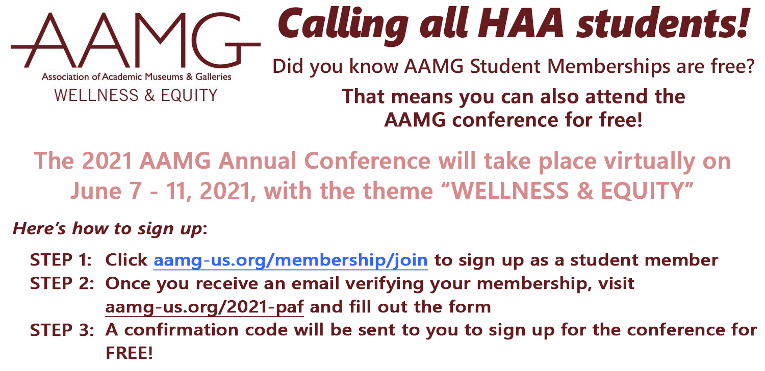 Free AAMG Student Memberships and Conference Registration