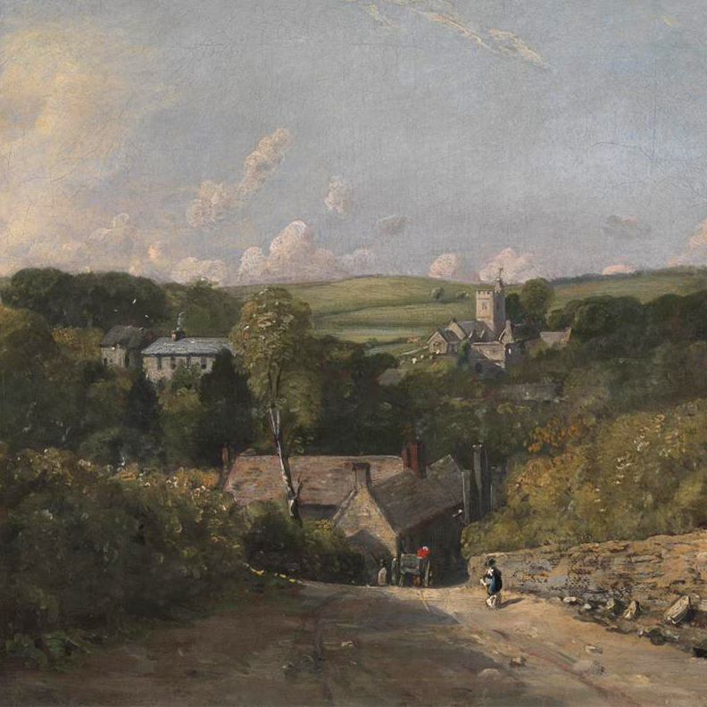John Constable, Osmington Village, 1816-1817 (image courtesy Yale Center for British Art, Paul Mellon Collection)